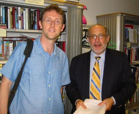 Mark Peter Hughes and Robert Siegel of NPR